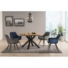 Zestaw do salonu: krzesła Linea Velvet + stół okrągły Ritmo