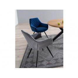 Krzesła Linea Velvet granatowe i szare
